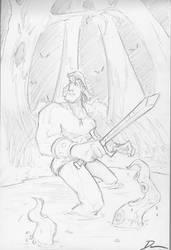 Conan Sketch by Dantooine