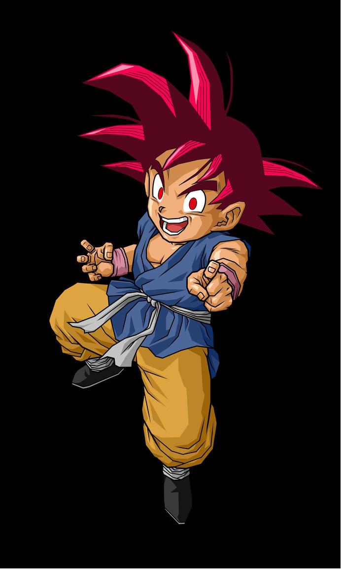 Goku GT Super Saiyan God by SuperPonyHunter5000 on DeviantArt