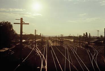 Rail Tracks and Eskisehir by Yutonet