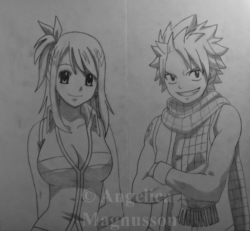 Lucy heartfilia and natsu dragneel from fairy tail by - Lucy fairy tail drawing ...