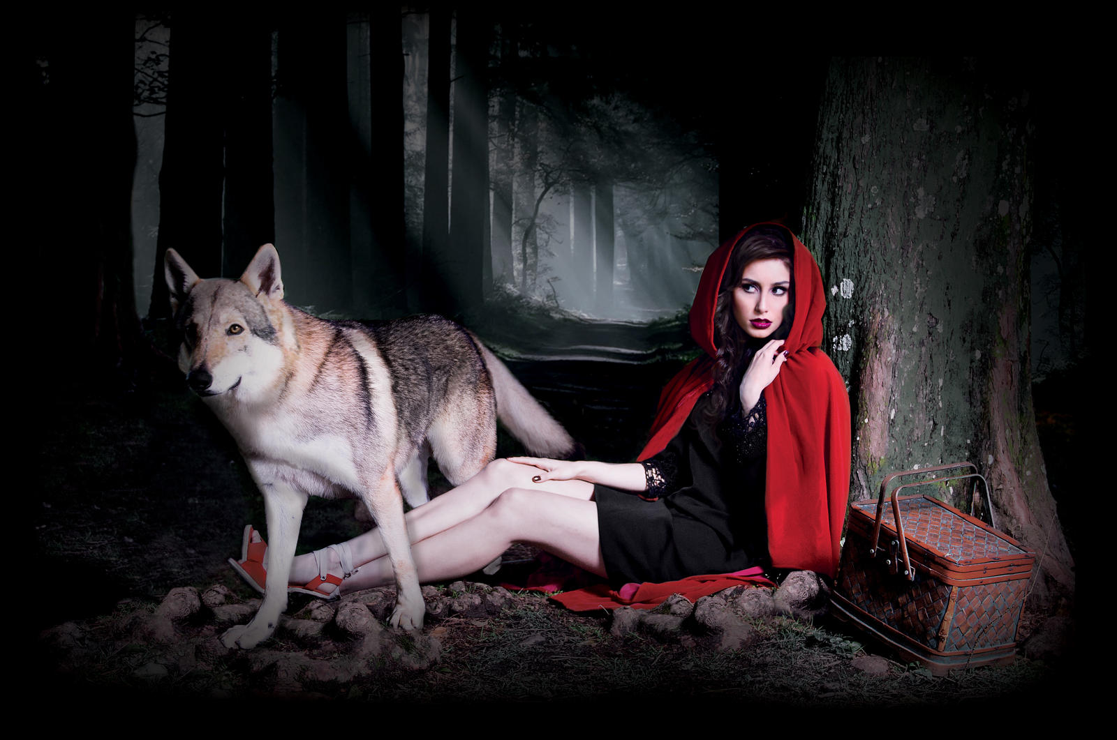 onde upon a one little red riding and wolf evil by hikari studio on deviantart