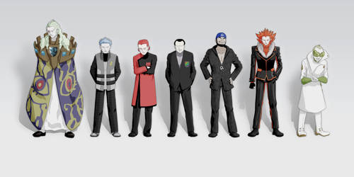 Villainous Team Bosses Line Up