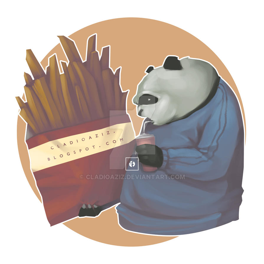 Panda, French Fries and Soft Drink by cladioaziz