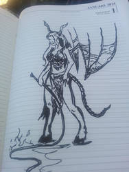 Sketchwork Succubus Might and Magic by IgaNinja