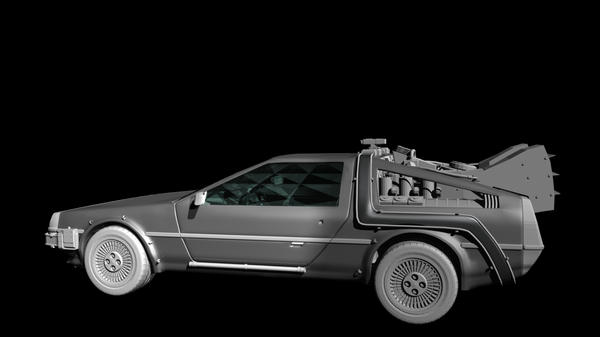 Back to the Future Delorean by TheColorCute