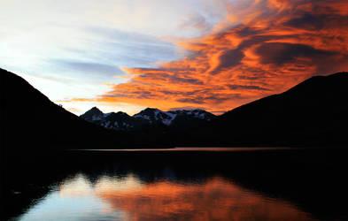 Saddlebag Lake sunset