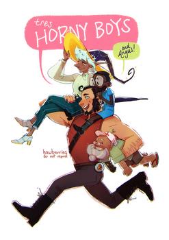 :: tres horny boys