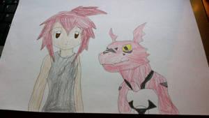 Daisuke and Guilmon