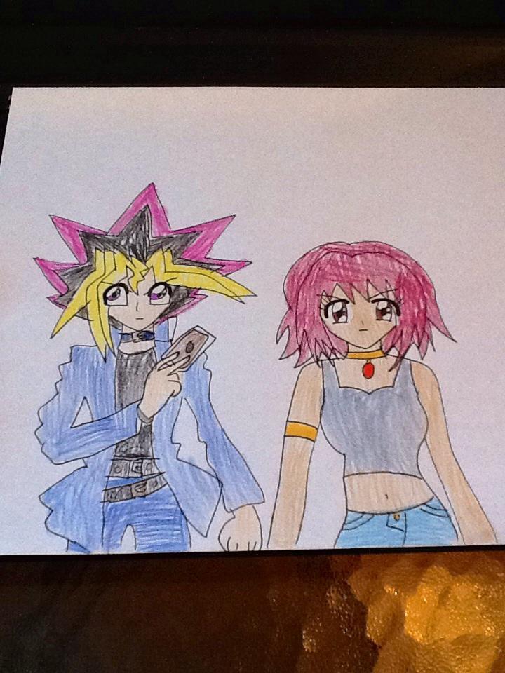 Yugi Mouto and Daisy Motomiya by MIRACLESVEEMON