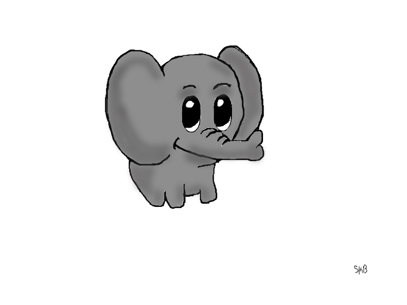 Chibi Elephant by The-Blu-Gnu-Cebu