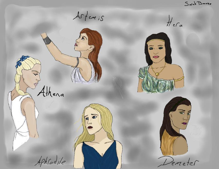 The Ladies of Olympus by The-Blu-Gnu-Cebu