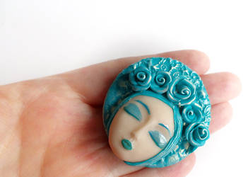 Turquoise Goddess Pendant by abigailsmycken