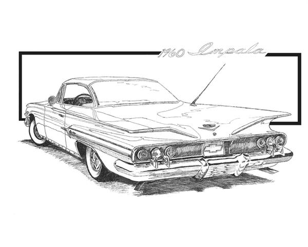 1959 chevy impala coloring pages coloring pages