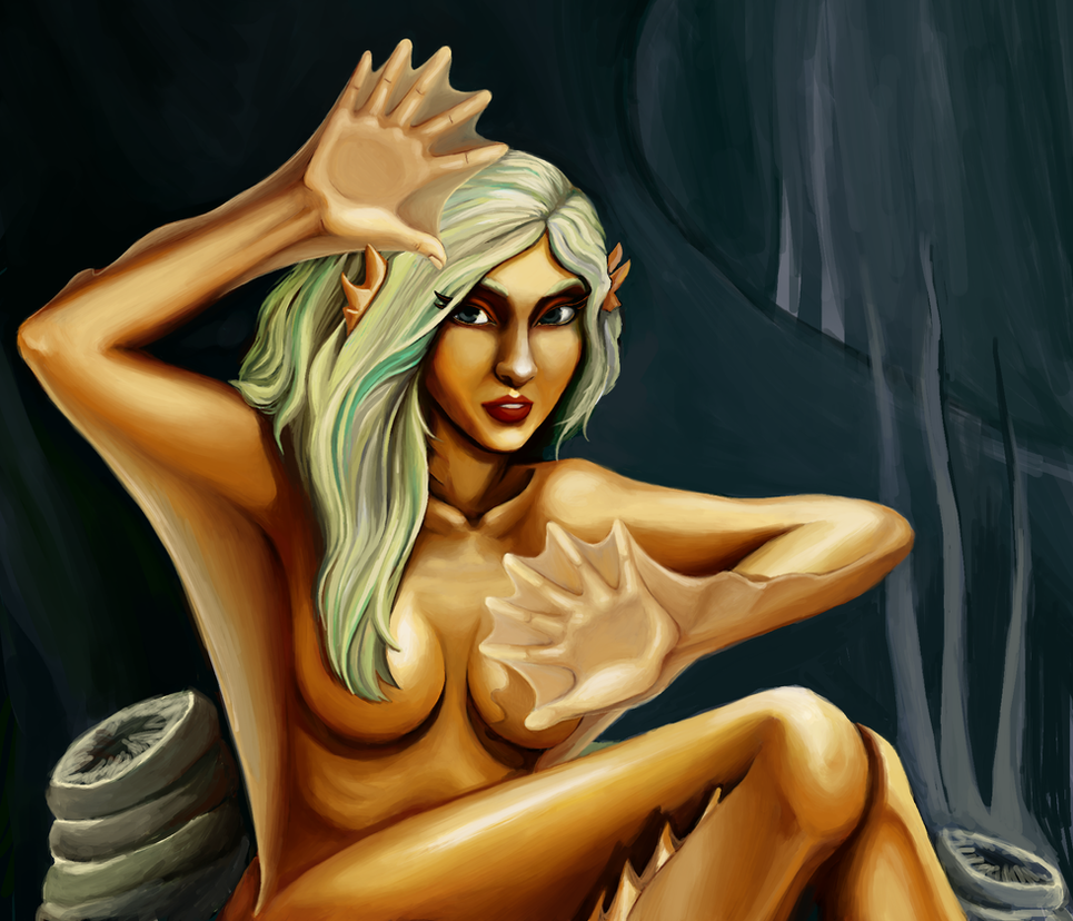 Naiad the Fish-Girl - Comission by fjordsare