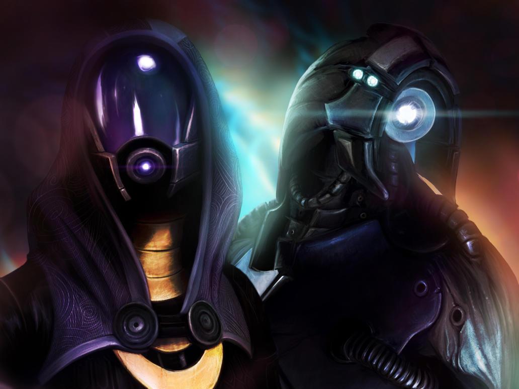 Tali'Zorah and Legion by BoyGTO