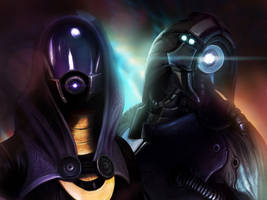 Tali'Zorah and Legion by BoyGTO