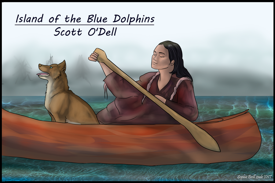 island of the blue dolphins karana drawing