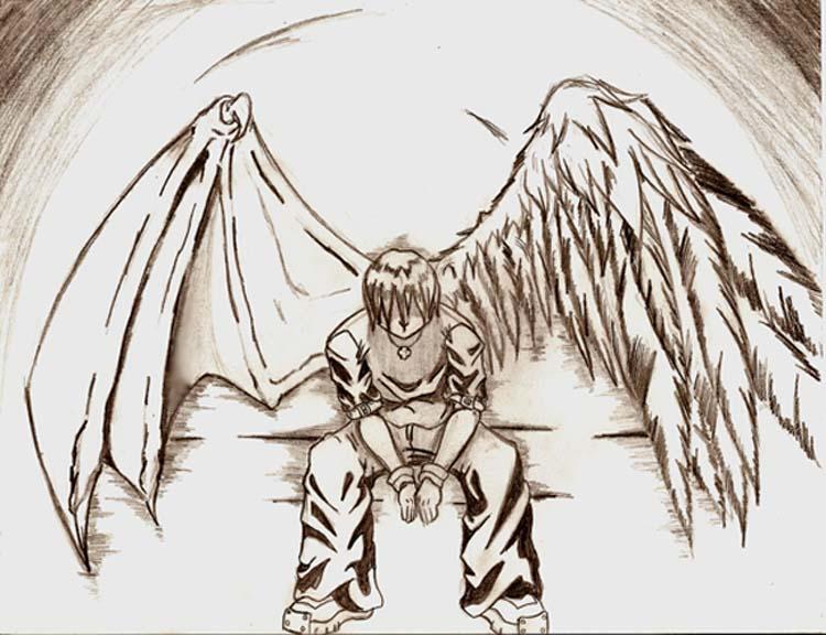 Fallen Angel by evill3...