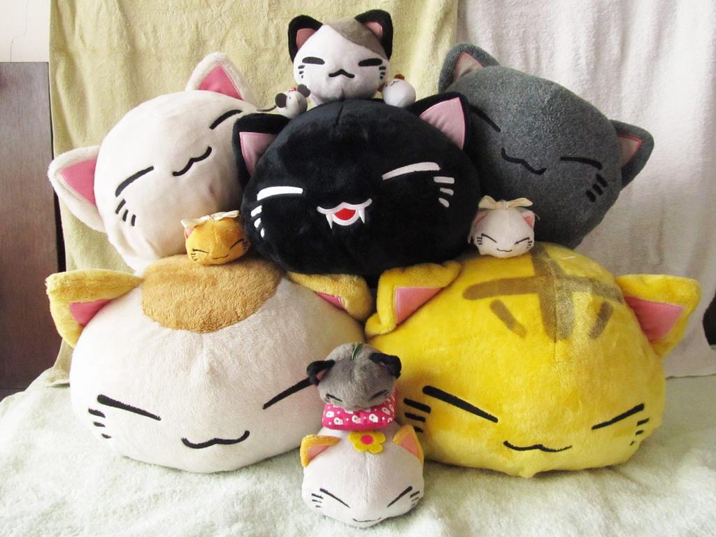 Cute Neko Pillow : sweet neko pillows by MayWhite5 on DeviantArt