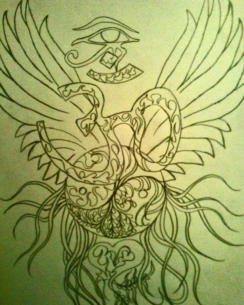 Eye of Horus - Hindu karma sign - Yin Yang by zurcwellness