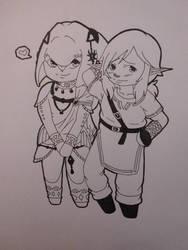 LoZ - Childhood friends by DosenSushi
