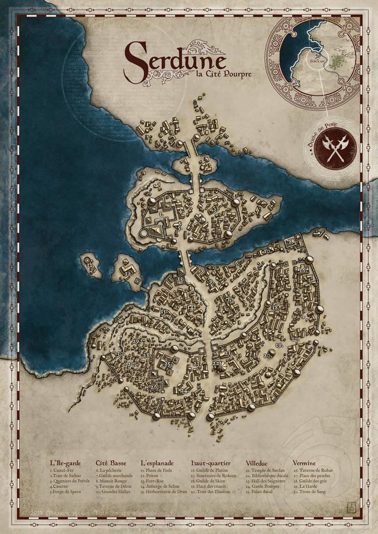 Serdune, The Crimson City by MaximePLASSE