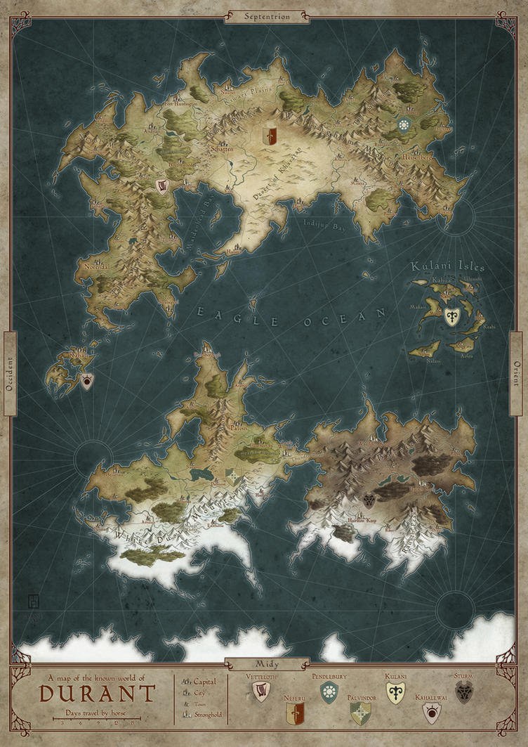 how to make a map for a fantasy world