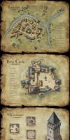 Set of fantasy maps