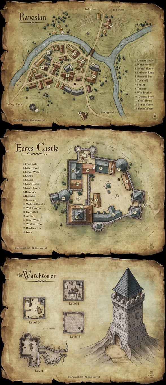 Set of fantasy maps by MaximePLASSE