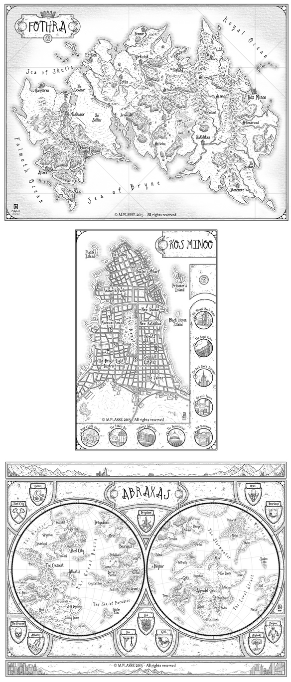 Househead - Set of fantasy maps by MaximePLASSE