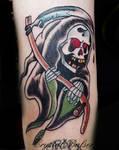 Old School Grim Reeper Tattoo