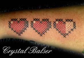 Zelda Hearts Tattoo