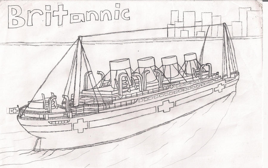 Britannic Sailing By Dragonmaster616 On Deviantart Britannic Coloring Pages