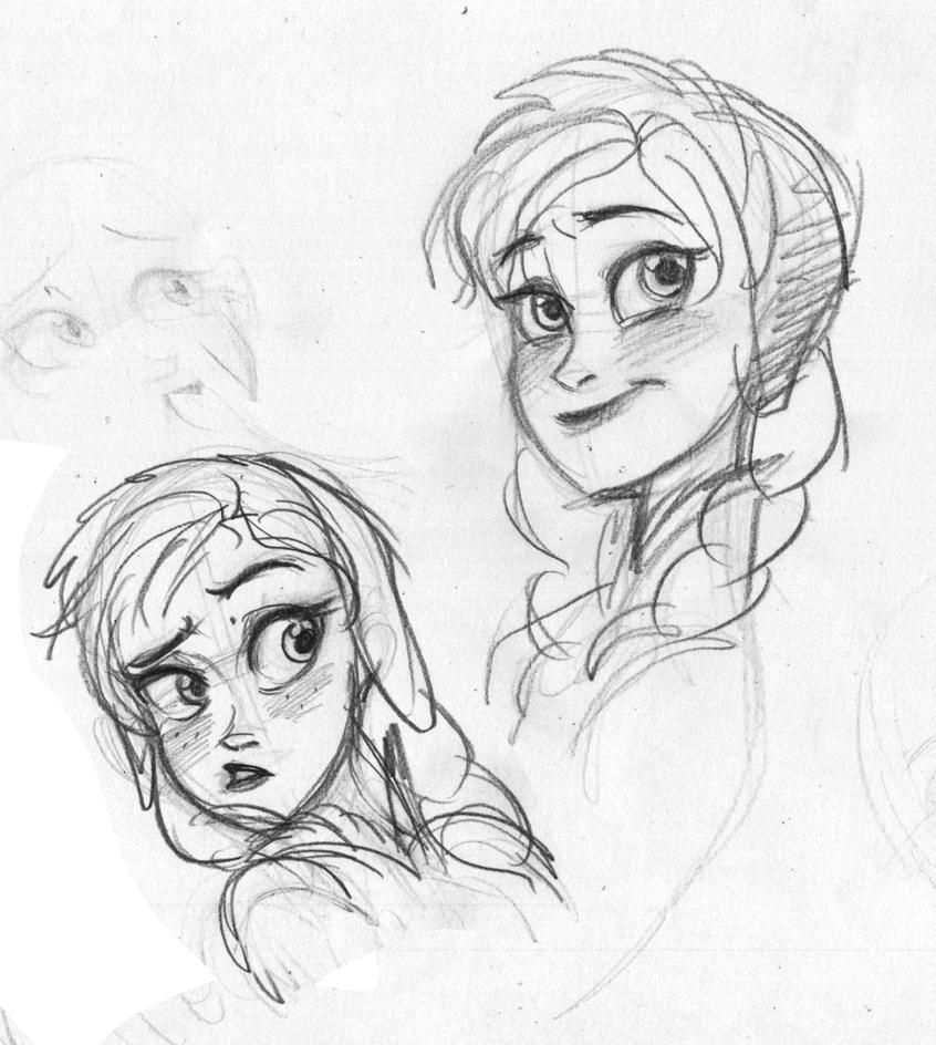 esa sketches frozen anna and sisters - photo #16
