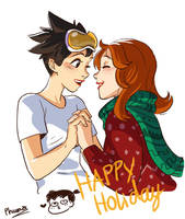 Tracer and Emily by zPePhungz