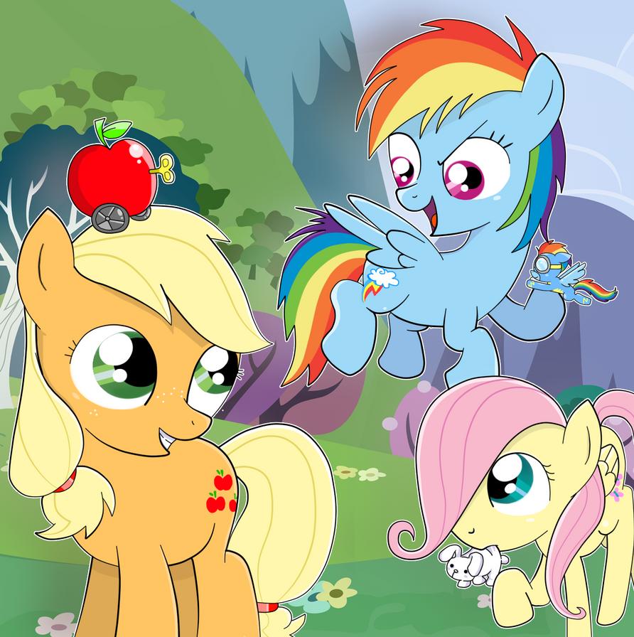 Request: Applejack Rainbow Dash And Fluttershy!! by pian ...  Applejack