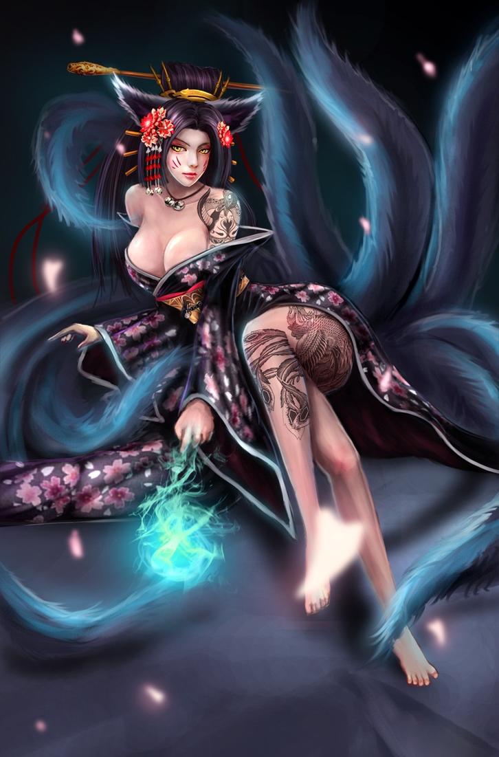 Ahri - League of Legends by AxainKris on DeviantArt
