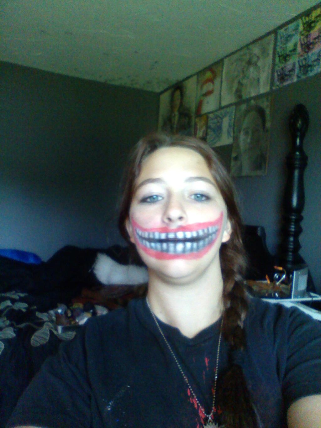 Large Smile Halloween Makeup by Daylighter123 on DeviantArt
