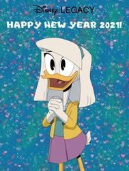 Dumbella Vanderquack New Year Poster by DumbellaVanderquack