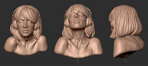 Girl Bust 01 - another view