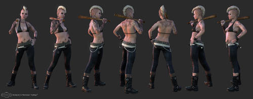 Punk Girl Turntable by screenlicker