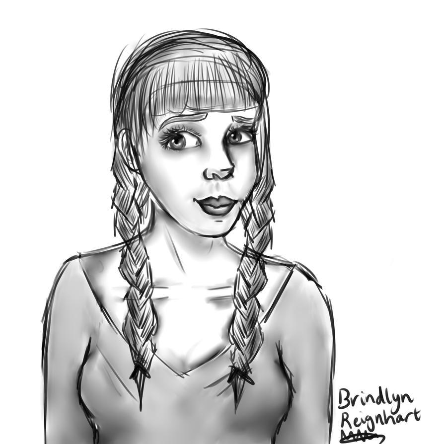 Brindlyn sketch by TheMollyStar