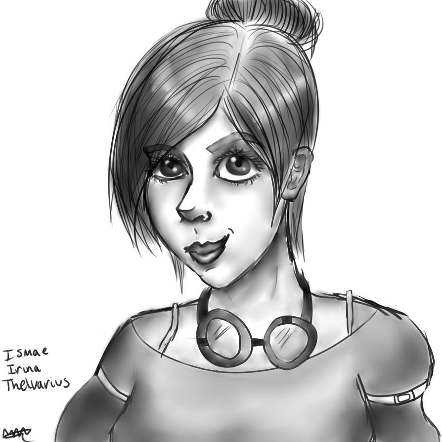 Ismae sketch by TheMollyStar