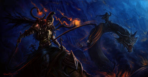 eastern dragon rider by no1hellangle