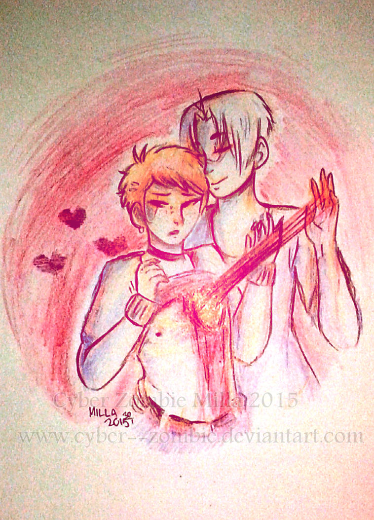 playing with your heart strings by Cyber--Zombie