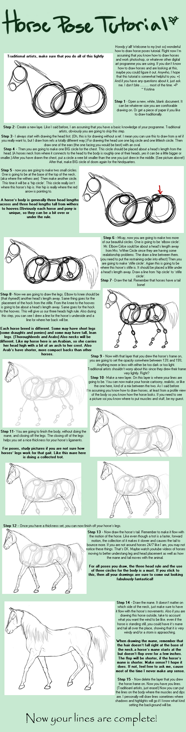 Horse Pose Tutorial by Abiadura
