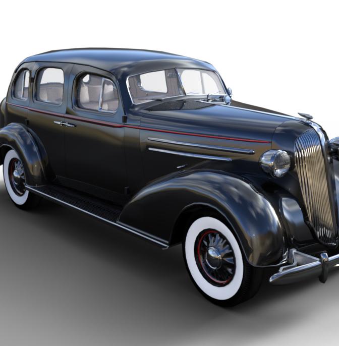 1936 AM SedanBody Red Stripe  by JGreenlees