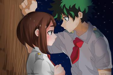 Collab!! Izuku And Ochako by MariaBlueNeko
