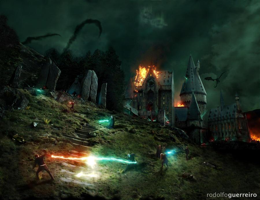 Battle of Hogwarts by rodolfoguerreiro
