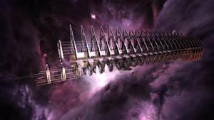 Cylon Resurrection Ship _WIP2_ by TodayV4
